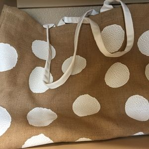 Burlap Polka Dot Bags